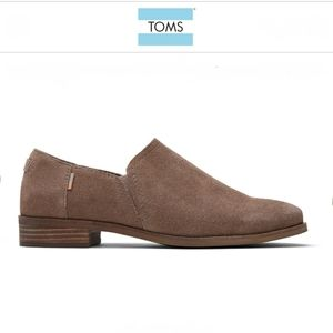 TOMS Shaye Low Bootie Taupe Gray Suede